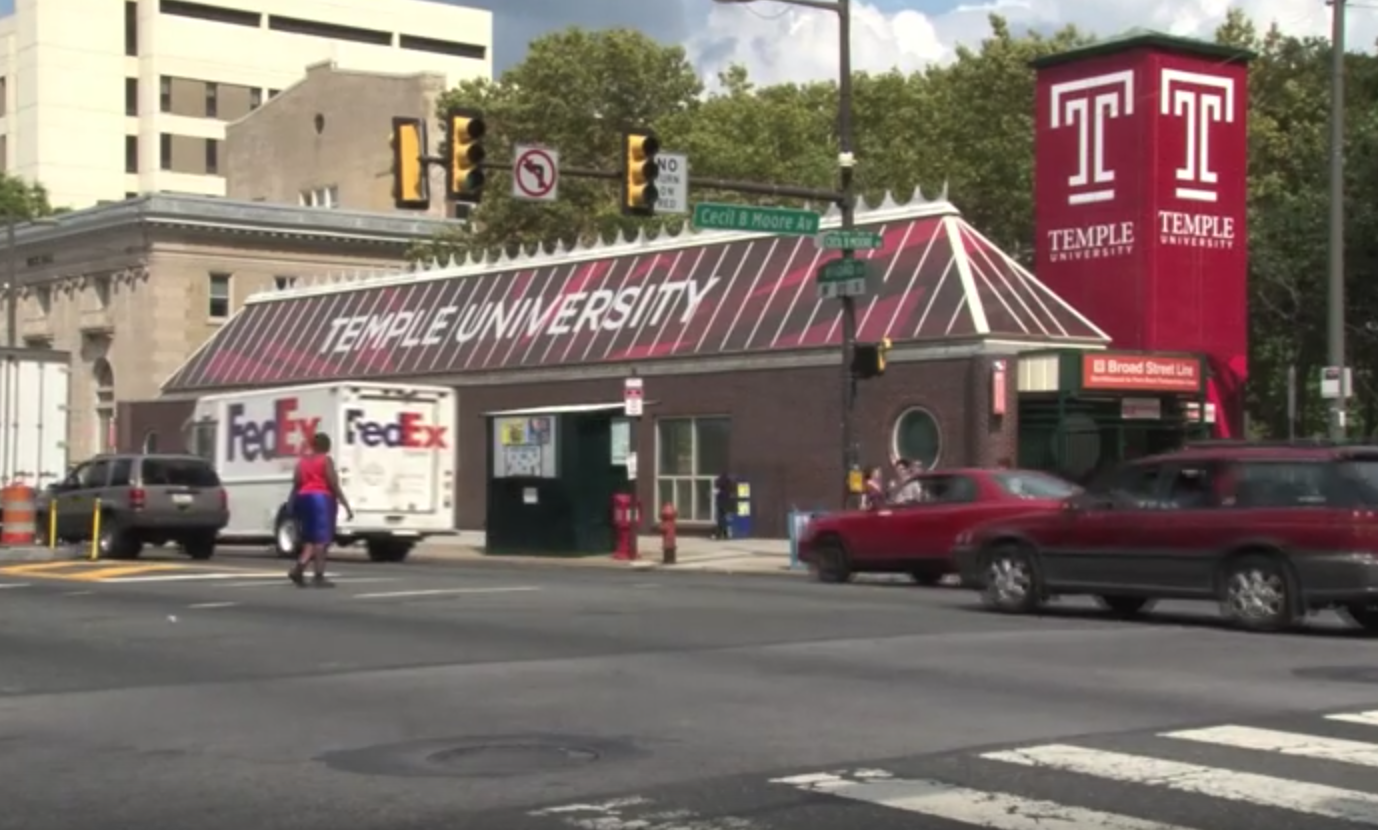 Cecil B. Moore Station Dons Cherry & White