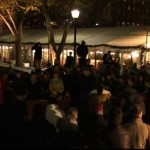 Philadelphia holds a vigil at LOVE Park in memory of the lives lost in the attacks in Paris.