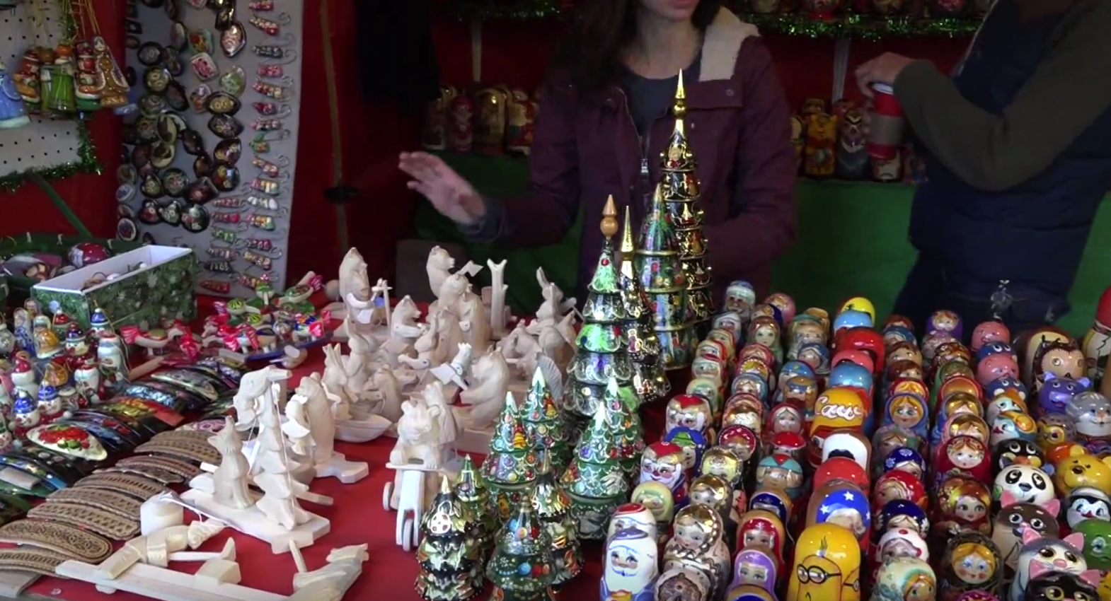 Annual Christmas Village is open for the holiday season. It can be found at Love Park in Center City, Philadelphia.