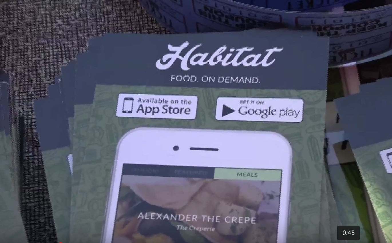 Habitat, a student run phone application takes off and connects students to food trucks around campus.