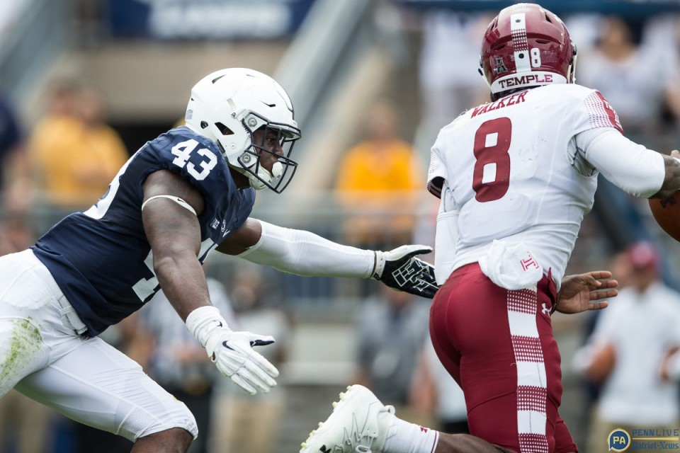 Phillip Walker seemed to make all the right decisions Saturday, and ultimately couldn't put enough points on the board to take down Penn State. // Credit: pennlive.com