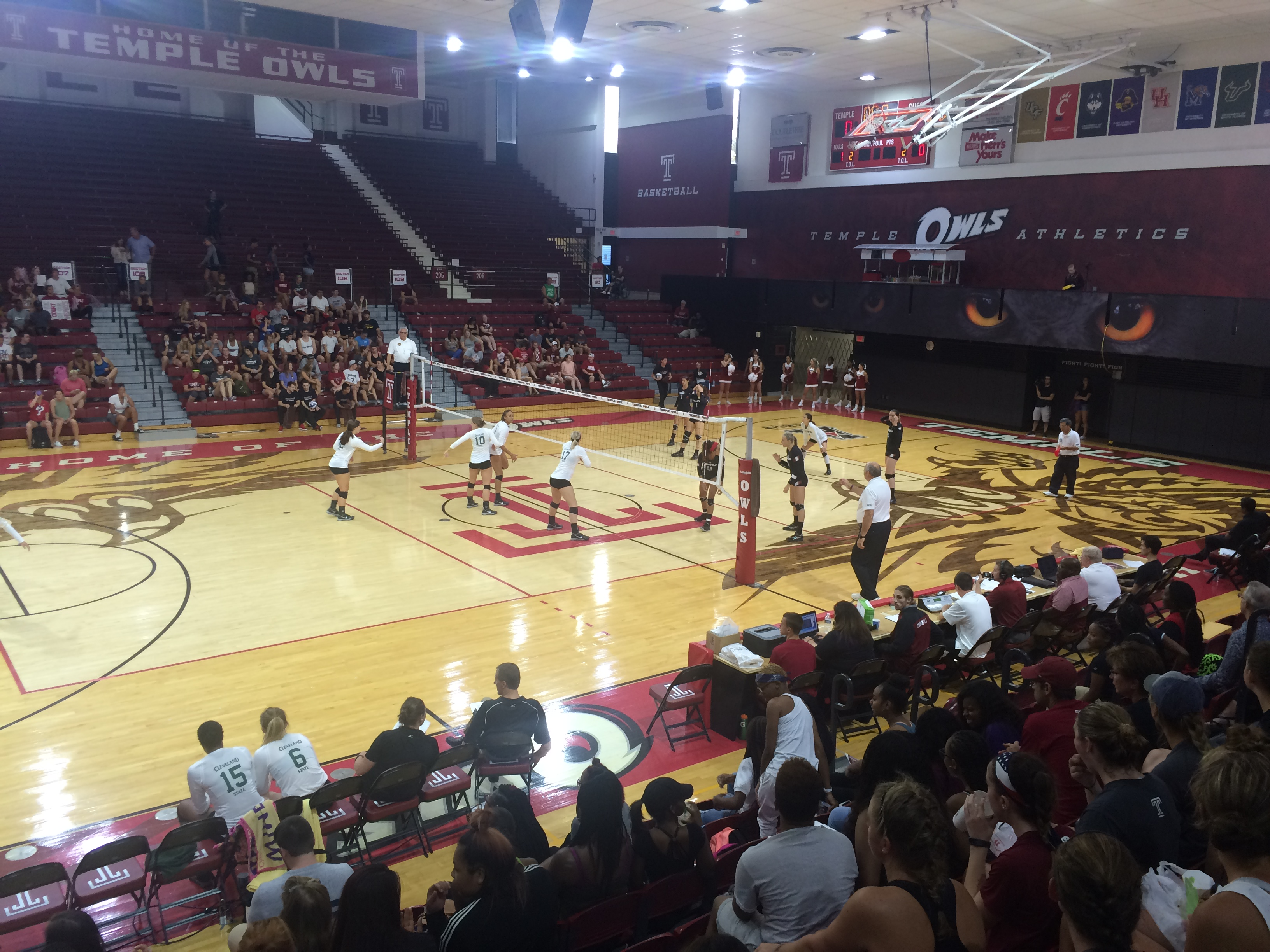 Temple Volleyball Dominates Day Two of Cherry and White Challenge