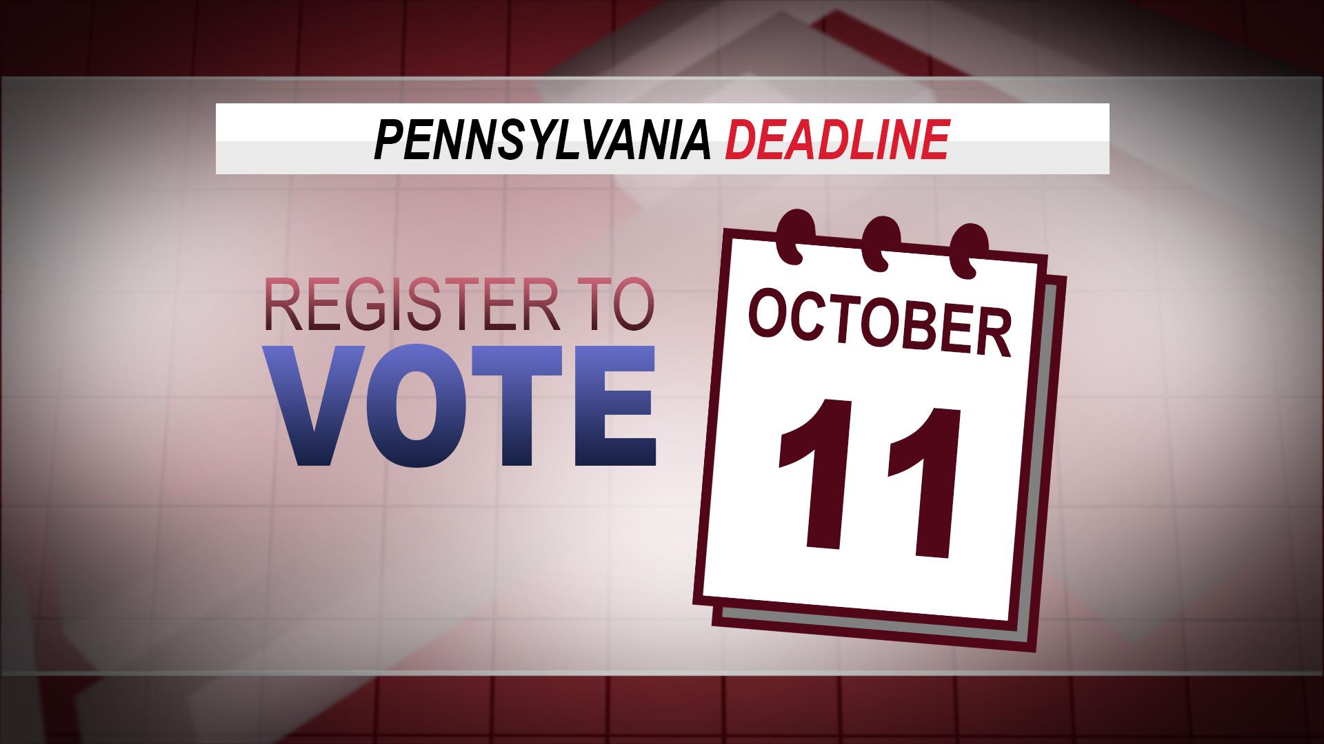 Pennsylvania Voter Registration Deadline Approach