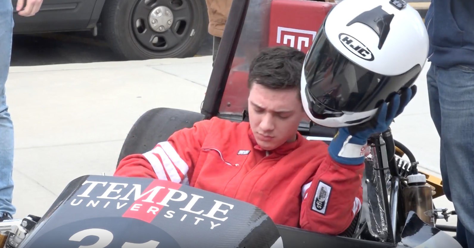 Temple Students Take Formula Race Car for a Spin