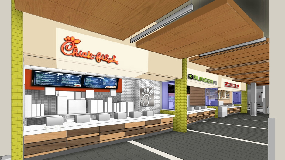 Renovation to Student Center Food Court