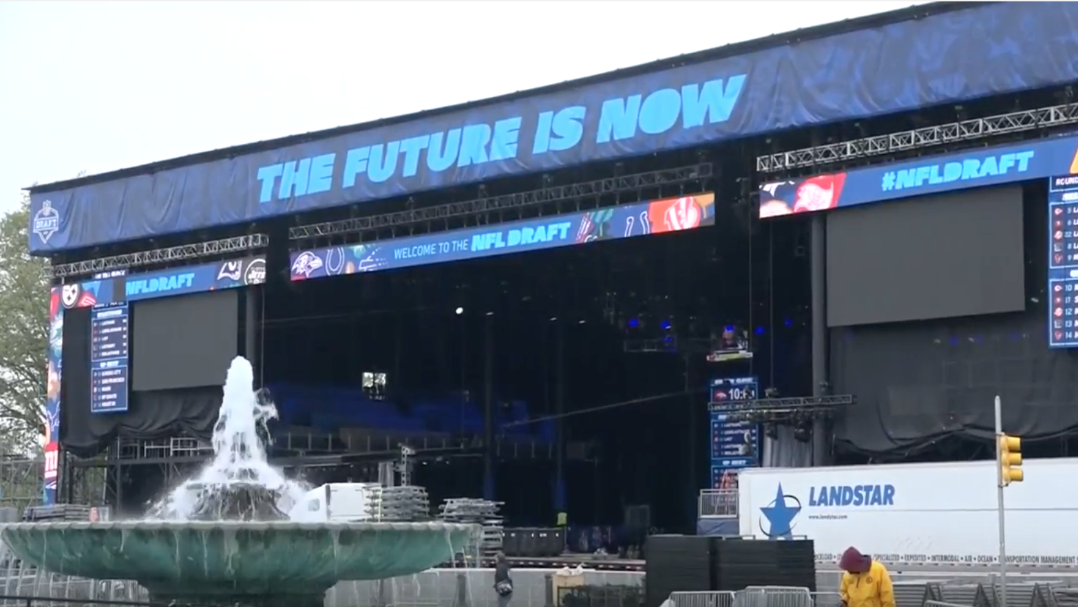 NFL Draft Experience Takes Over Ben Franklin Parkway