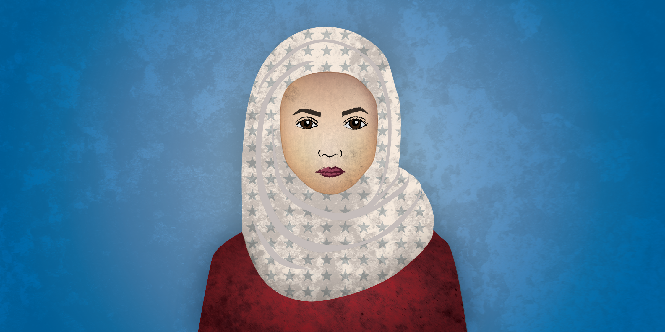 Muslim Woman with Starry Hijab